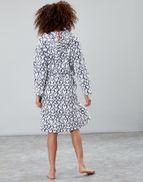 Joules UK Rita Womens Fluffy Dressing Gown CREAM LOVE HEARTS da79e32bf