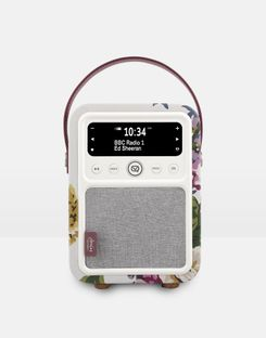Joules UK Vq Monty Cambridge Floral Homeware Dab Digital Radio And Bluetooth Speaker ANNIVERSARY FLORAL CREAM