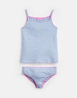 Joules UK MELODY Older Girls Vest And Pant Set 3-12 Yr WHITE BLUE STRIPE