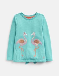 Joules UK Chloe Older Girls Cross Back Sweatshirt 3-12 Yr TURQUOISE