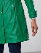 Joules Womens Quayside Waterproof Raincoat in PINE GREEN