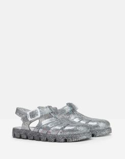 Joules UK Juju Jelly Shoe Girls Sandals SILVER