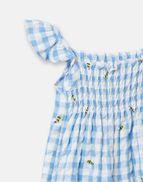 Joules Baby Girls Riverton tissée ange bleu-Abeilles Carreaux