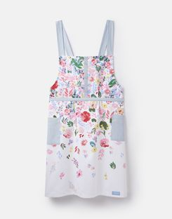 Joules UK Kitchen Crossover Apron Homeware Pinafore-Style WHITE FLORAL