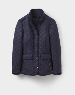 Joules US Newdale Womens Quilted Jacket Marine Navy