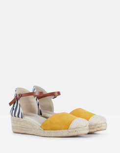 Joules UK Espadrille Womens Wedges NAVY STRIPE