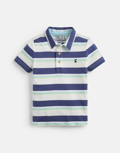 Joules UK Morley Younger Boys Stripe Polo 1-6 Yr CREAM NAVY STRIPE