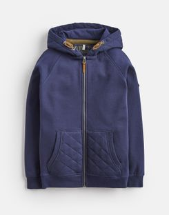 Joules UK Hemsby Older Boys Zip Up Hooded Sweatshirt 3-12 Yr FRENCH NAVY