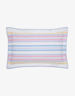 Joules UK Summer Fruit Stripe Oxford Homeware Pillowcase STRIPE MULTI