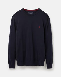 Joules US Jarvis Mens Cotton Crew Neck Sweater FRENCH NAVY