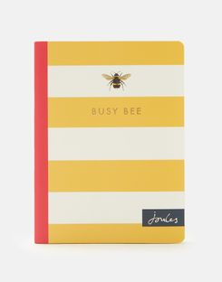 Joules UK B6 Notebook Homeware Gold Bee Stripe GOLD BEE STRIPE