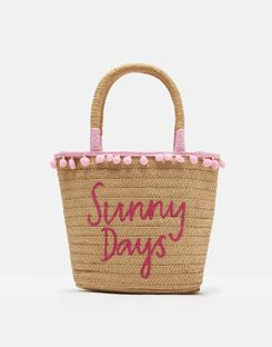 Joules UK Carrie Girls Beach Bag NATURAL