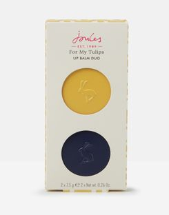 Joules UK Lip Balm Homeware Set Of Two NAVY ANTIQUE GOLD