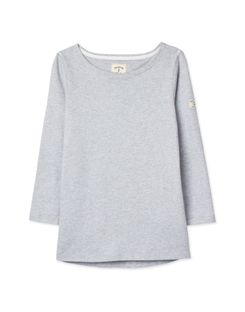 Joules US Harbour Solid Womens Jersey top GREY MARL
