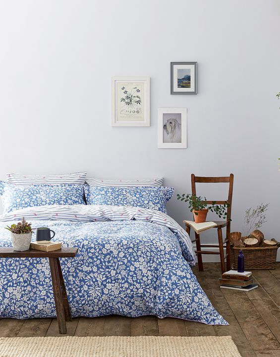 Image of BLUE DITSY Orchard ditsy Duvet Cover Size Double