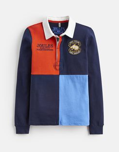 Joules US TRY Older Boys RUGBY SHIRT 3-12yr FRENCH NAVY