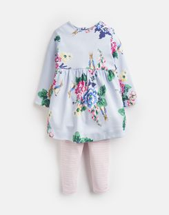 Joules US Christina Baby Girls Official Peter Rabbit™ Collection Dress And Leggings Set LIGHT BLUE RABBIT FLORAL
