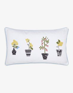 Joules UK Garden Dogs Plant Pots Homeware Cushion PLANT POTS