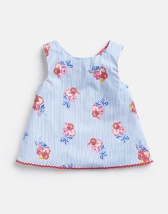Joules UK Carmel Top Younger Girls Printed Woven Top 1-6 Yr BLUE FLORAL STRIPE