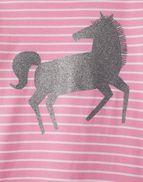 Joules 208097 Embellished Drop Waist Dress in PINK WHITE STRIPE