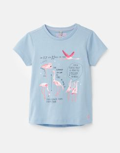 *BNWT Joules Girls Grey Marl Pixie Dogs Dog Puppies T-Shirt Cute Looking Pawsome