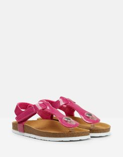 Joules UK Sundale Girls Toe Post Sandal TRULY PINK