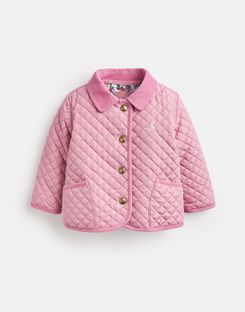 Joules US Mabel Baby Girls Quilted Jacket CHERRY BLOSSOM