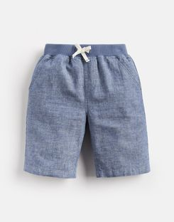 Joules UK Huey Older Boys Linen Mix Woven Short 1-12 Yr CHAMBRAY