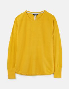 Joules US Poppy Womens Round Neck Sweater ANTIQUE GOLD