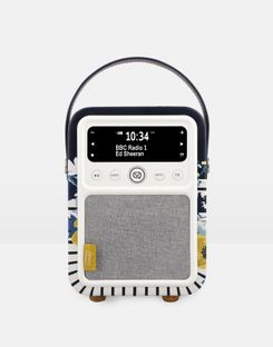 Joules UK Vq Monty Winter Camelia Homeware Dab Digital Radio And Bluetooth Speaker FRENCH NAVY CREME FLORAL
