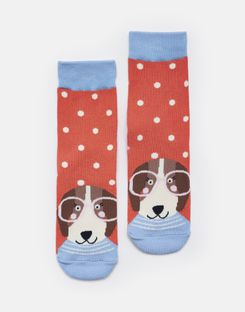 Tom Joule Kleider - Joules Germany NEAT FEET Girls Motiv-Socken PINK SPOT DOG