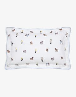 Joules UK Garden Dogs Oxford Homeware Pillowcase CREME DOGS