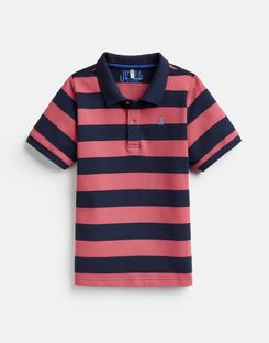 Joules UK FILBERT Older Boys Boys Stripe Polo Shirt 3-12Yr NAVY PINK STRIPE