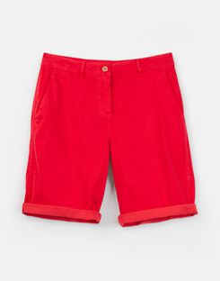 Joules US Cruise Long Womens Chino Shorts NELSON RED