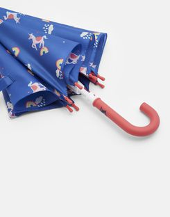 Joules UK Fulton Junior Girls Blue Unicorn Girls Umbrella BLUE UNICORN CLOUDS