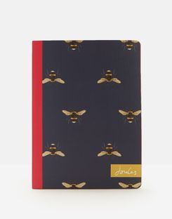 Joules UK B6 Notebook Homeware Navy Bee NAVY STRIPE BEE