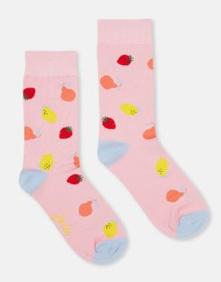 Joules US Brilliant Bamboo Womens Socks PINK FRUIT