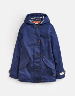 Joules US Coast Older Girls Waterproof Jacket 3-12 Yr FRENCH NAVY