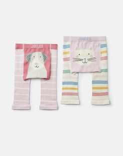 Joules US Lively Baby Girls 2 Pack Intarsia Legging MULTI DOG CAT