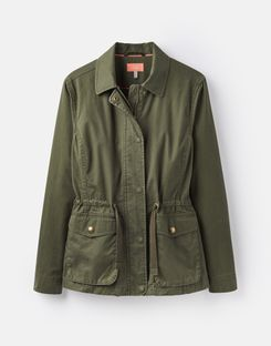 Joules US Corinne Womens Lightweight Casual Jacket DARK GREEN