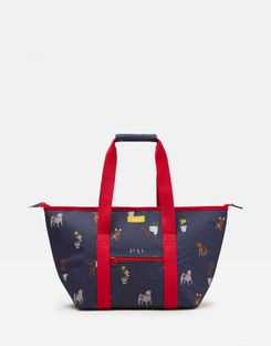Joules UK Picnic Carrier Bag Homeware Printed And Fully Insulated BLUE DOGS