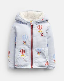 Joules US James Baby Boys Reversible Jacket BLUE BALLOONS