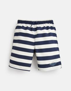 Joules US Ocean Older Boys Swim Shorts 1-12 Yr CREAM NAVY STRIPE