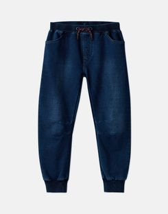 Joules US Bowen Older Boys Denim Jersey Joggers 1-12 Years DENIM