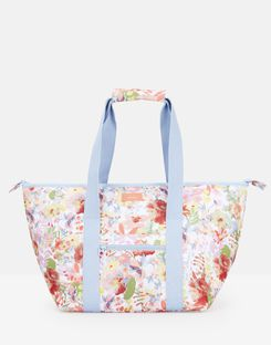 Joules UK Picnic Carrier Bag Homeware Printed And Fully Insulated WHITE FLORAL