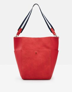 Joules UK Wayfield PU Womens Bucket Bag RED