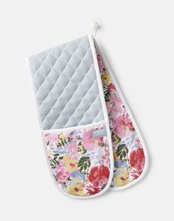 Joules UK Kitchen Oven Homeware Gloves WHITE FLORAL