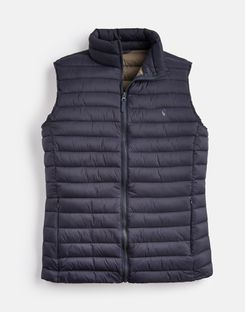 Joules UK GO TO Mens Lightweight Quilted Gilet MARINE NAVY
