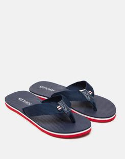 Joules US Flip Flop Mens With Webbing Straps FRENCH NAVY