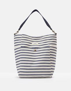 Joules US Wayfield Stripe Womens Bucket Bag BLUE STRIPE